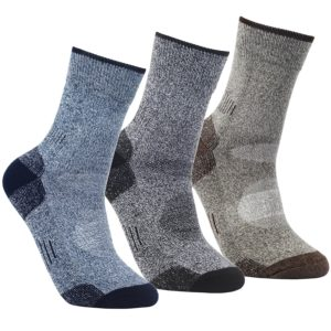 YUEDGE Men's 3 Pairs Wicking Antimicrobial Outdoor Multi Performance